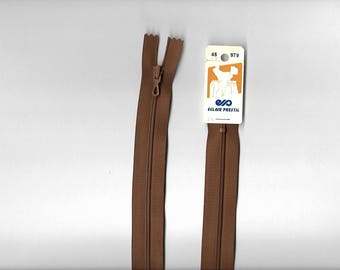 "Closed ""plastic zipper"" 45 cm not separable z51 Brown 979."