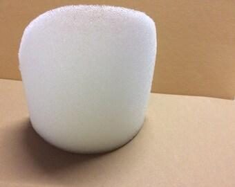 A half-moon not covered foam shoulder pad