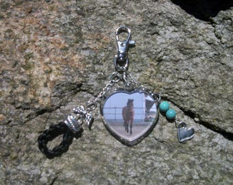 Photo of horse hair Keychain with (your) horse.