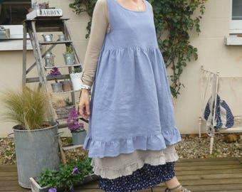 Blue linen Lavender Miss dress