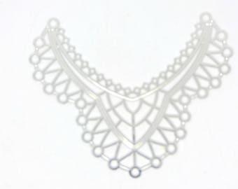 2 silver 39x35mm chandelier print