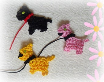 Crocheted set of 3 dogs