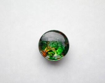 Chunk snap button 18mm Green/Orange spots