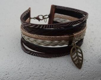 Brown Cuff Bracelet