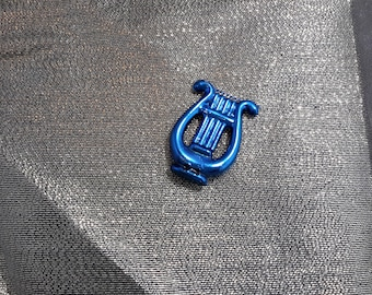 harp charm plastic craft decoration