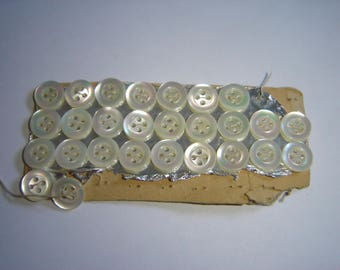 27 VINTAGE MOTHER-OF-PEARL BUTTONS