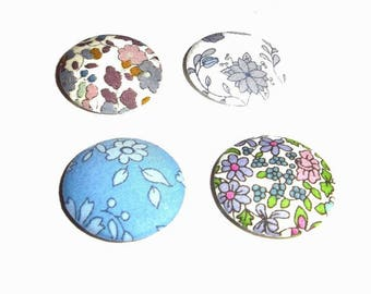 4 cabochons fabric Liberty of London 24 mm various colors