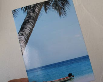 """Postcard """"alone in the world"""" card in color"""