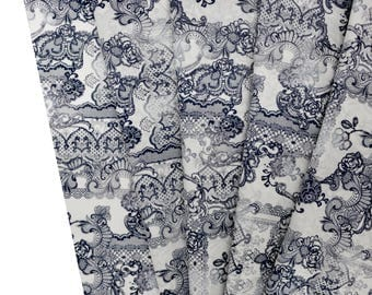 Lining - Fabric lining - lace - lace Delavee - fabric white breakage from 50x112cm printed fabric