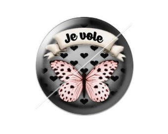 resin cabochon is 25 mm Butterfly stick