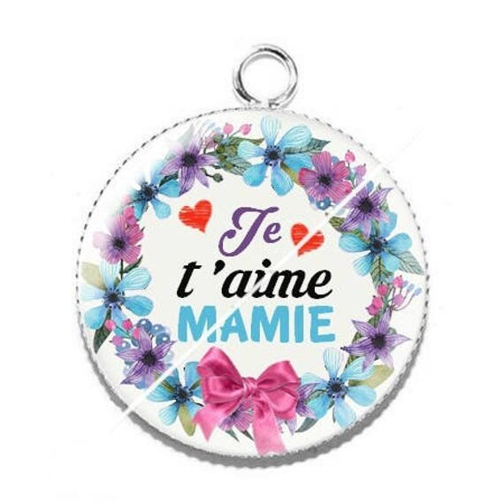 Pendentif je t'aime mamie