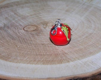 Apple Red pendant in 925 Silver