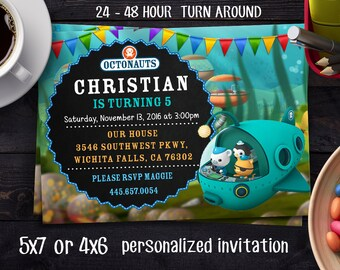 Octonauts Invitation, Octonauts Birthday, Octonauts Party, Octonauts Invites, Octonauts Printables, Octonauts Invite