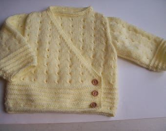 baby yellow acrylic Wool Cardigan