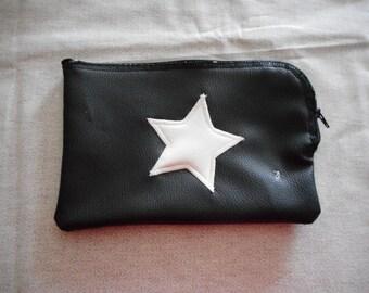 "Flat ""surprise"" Pocket Black White Star"