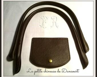 Bag handles + Brown flap