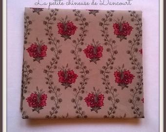 Coupon of fabrics from Mas D'ousvan Suza tea red 50x55cm