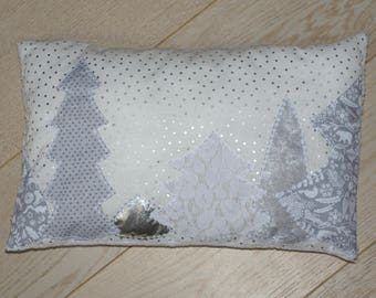 Pillow silver winter forest