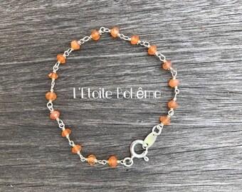Bohemian carnelian bracelet