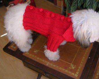 Little red wool dog coat
