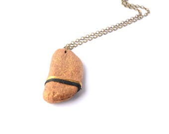 Driftwood necklace gold