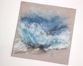 Sea waves splashes Beach pastel poison type / / sea beach waves