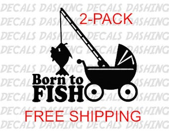 Fishing Decals, Buy one GET ONE FREE, Vinyl Sticker Lure, Reel Rod Hook, Tackle Box Tug, Canoe Boat Fly