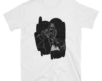 t-shirt, clothing, apparel, illustration, drawing, sci-fi, alien