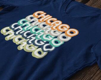Retro Style Chicago Illinois T-shirt