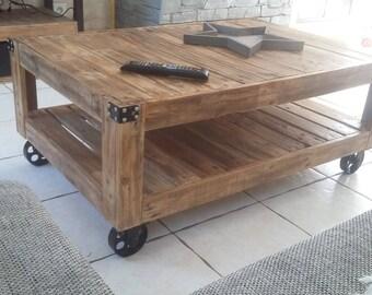 industrial coffee table original pallet wood