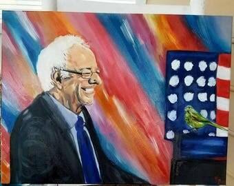 Original Bernie Sanders Oil Painting: Bird of My Heart