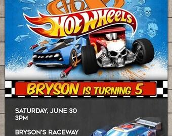 Custom Hot Wheels Birthday Invitation - Hot Wheels Birthday Invitations - Hot Wheels Invitation - Hot Wheels Invite - Hot Wheels Printable