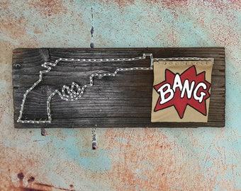 Revolver Gun String Art with a BANG