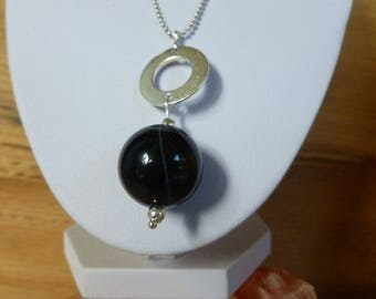 """Black"" long necklace"