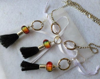 """Set earrings and necklace """"Tribe"""""""