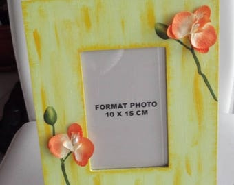 Spring bright Orchid photo frame