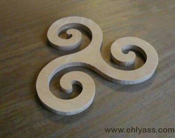 Coaster / trivet TRISKELL solid wood (fretwork)