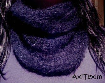 stunning black coll mohair wool