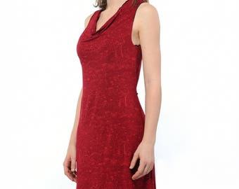 Blessed red printed Night gown