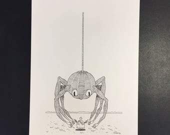 Articulation, Illustration originale à l'encre noire