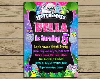 Hatchimals Invitation * Hatchimals Birthday Invite * Hatchimals Birthday Party Invitation * Personalized * YOU PRINT