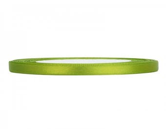 Lime green satin 6mm the meter Ribbon