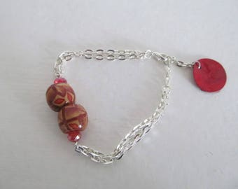bracelet wooden beads and charm