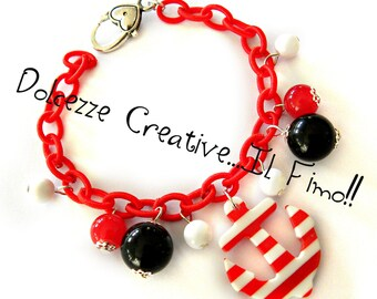 Bracelet red anchor and Navy