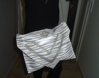 Bag or large pouch with inlay zebree! bright!