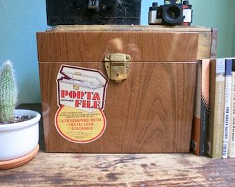 Vintage Personal Porta-File~ 70's Office Storage~ Desk Organizer