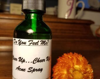 "Homemade Acne Spray for Oily and Acne Skin ""Clear Up....Cheer Up"""