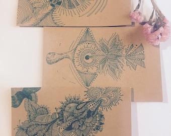 Hand drawn 'Doorway' Card