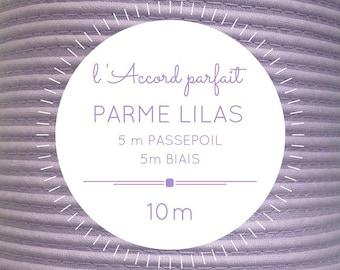 Mix 5 m + 5 m bias - purple lilac piping bag