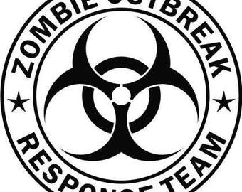 Zombie Outbreak Response Team - Vinyl Decal Sticker